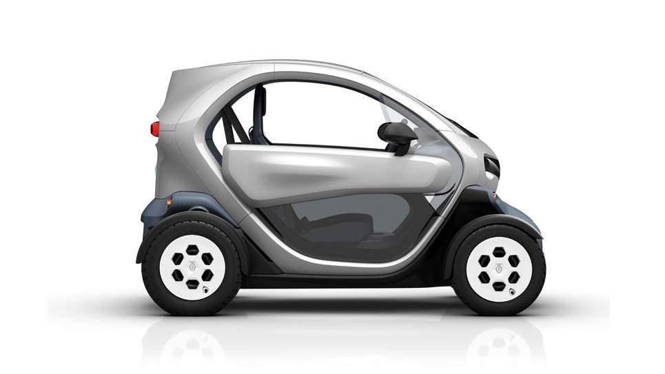 Renault Twizy silber Seite