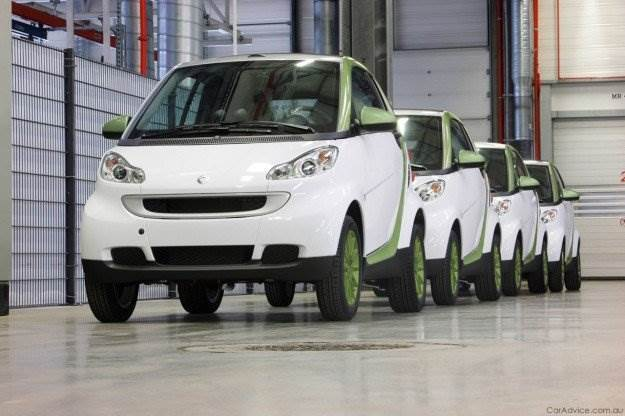Produktion smart fortwo electric drive
