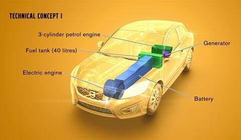 Volvo Range Extender Konzept 1