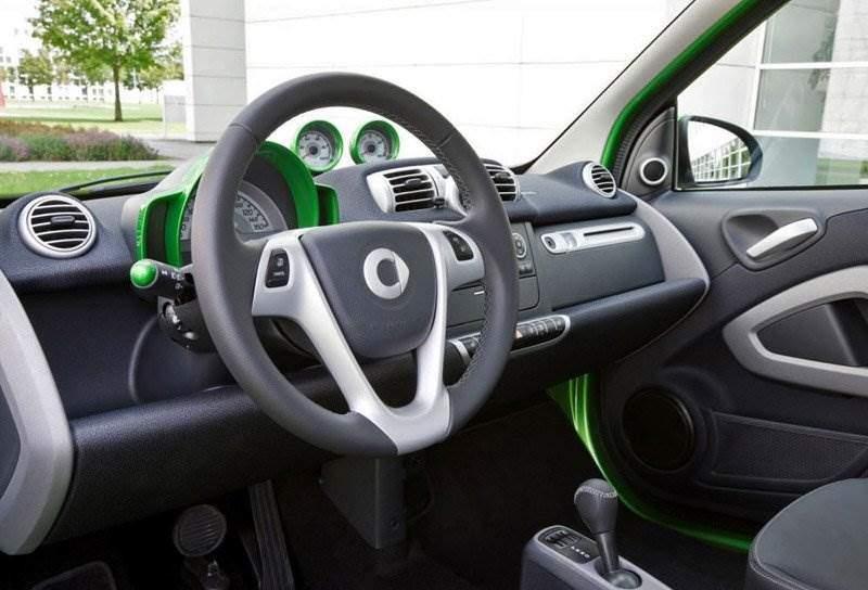 Интерьер электроавтомобиля Smart