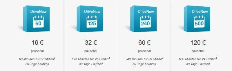 DriveNow Sparpaket