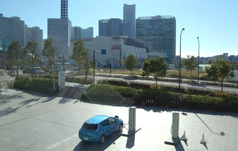 japan-elektrofahrzeug-ladestation