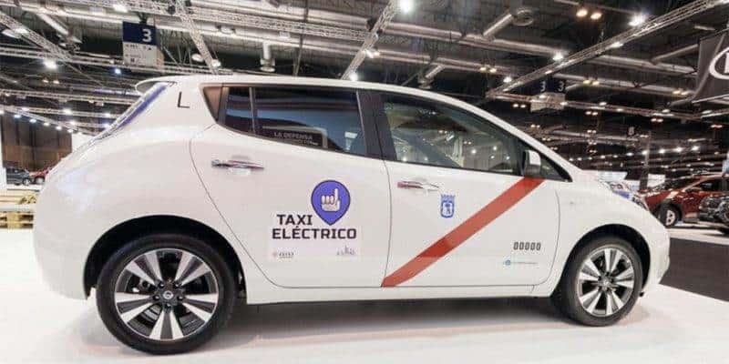 Nissan Elektroaut Taxi Madrid_001