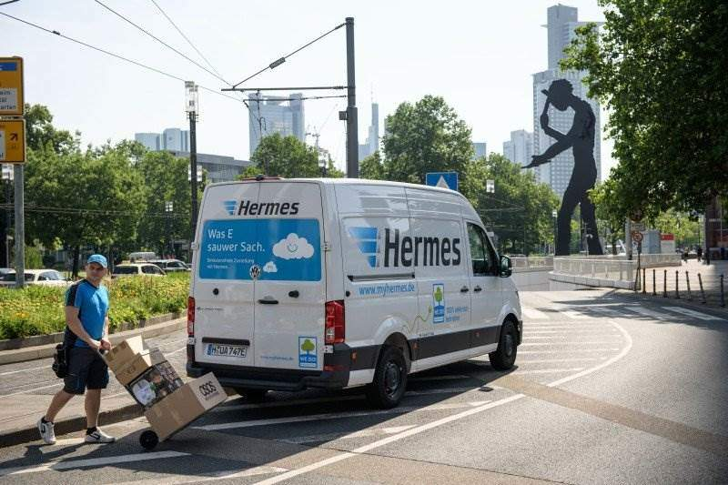 hermes testet vw e crafter in hannover und frankfurt elektroauto. Black Bedroom Furniture Sets. Home Design Ideas