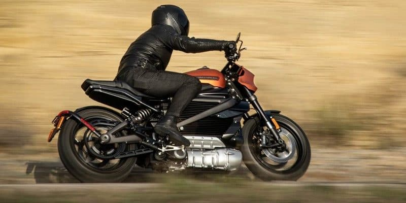 Harley-Davidson LiveWire bei voller Fahrt
