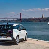 BMW i3 am Hafen