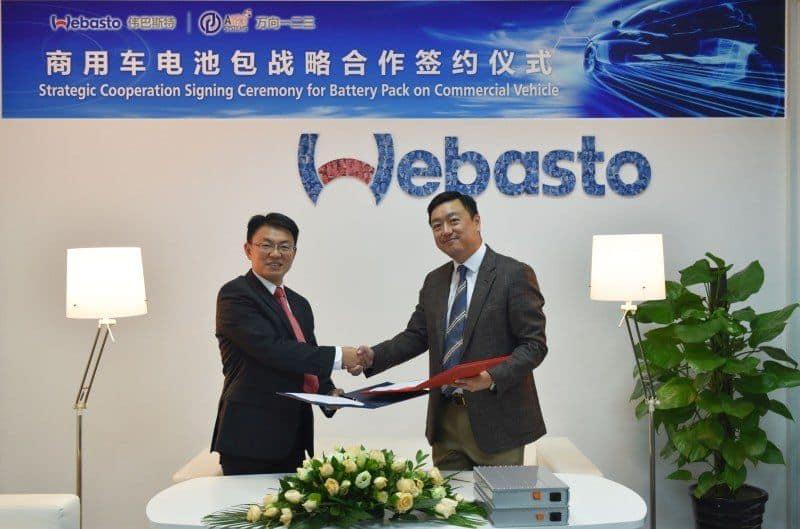 Kooperation von Webasto und Wanxiang A123