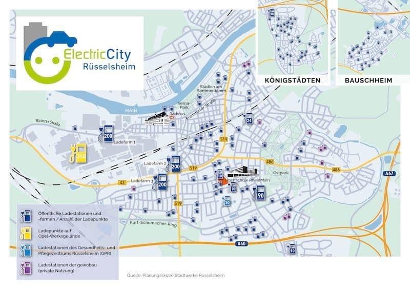 heimatstadt von opel: rüsselsheim will höchste ladepunktedichte in