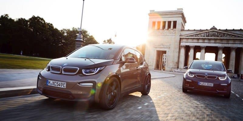 BMW i3 während der Fahrt