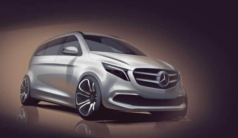 Die neue Mercedes-Benz V-Klasse – Designskizze