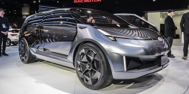 Blick auf das Konzeptfahrzeug ENTRANZE von GAC Motor