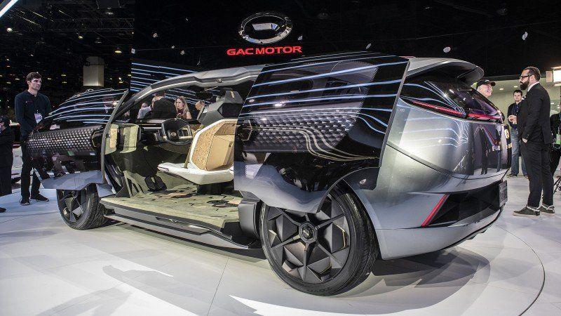 Seitenansicht des GAC Motor Concept Car ENTRANZE