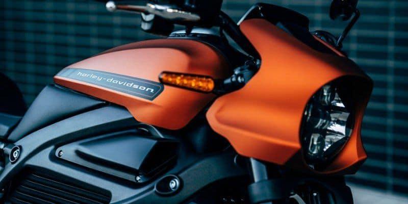 Detailaufnahme der Harley-Davidson Livewire