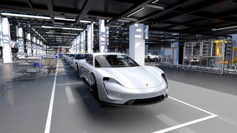 Blick in die Produktion Porsche 4.0
