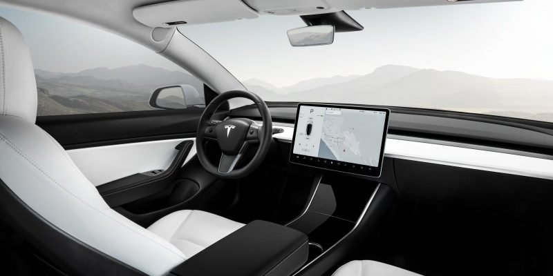 Interieur des Tesla Model 3