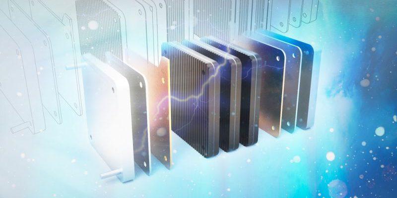 Brennstoffzellen-Technologie symbolisch dargestellt