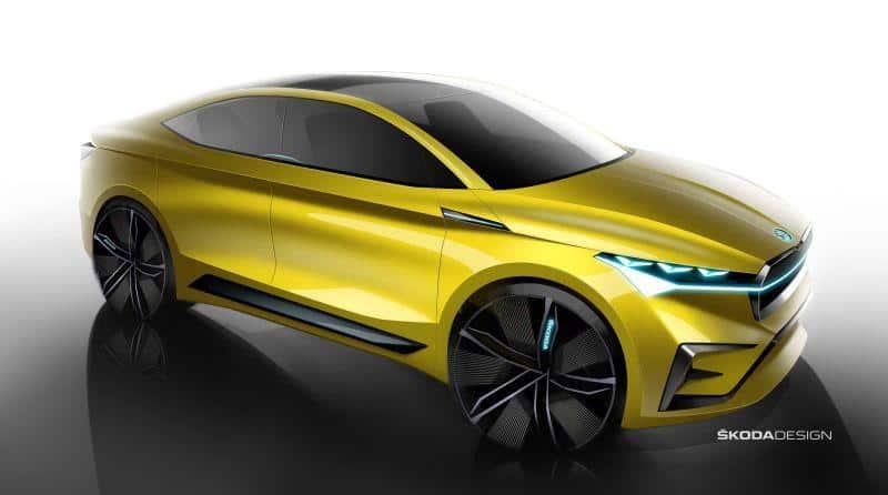 Skizze des Škoda Vision iV Konzept