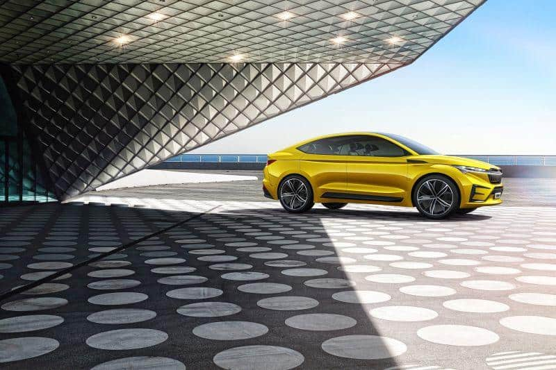 Seitenansicht des Škoda Vision iV Konzept