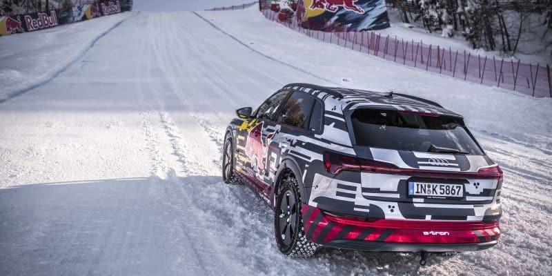 Audi e-tron stellt sich 85% Steigung