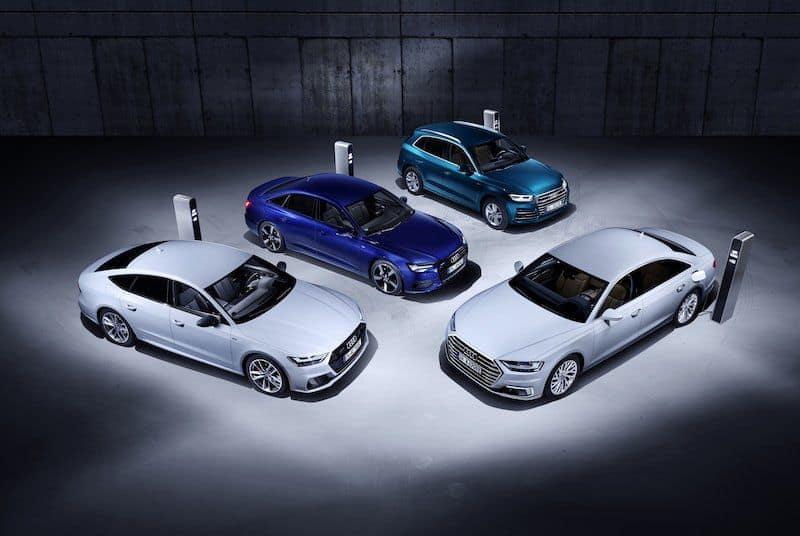 q5 a6 a7 und a8 audi stellt vier neue plug in hybride vor elektroauto. Black Bedroom Furniture Sets. Home Design Ideas