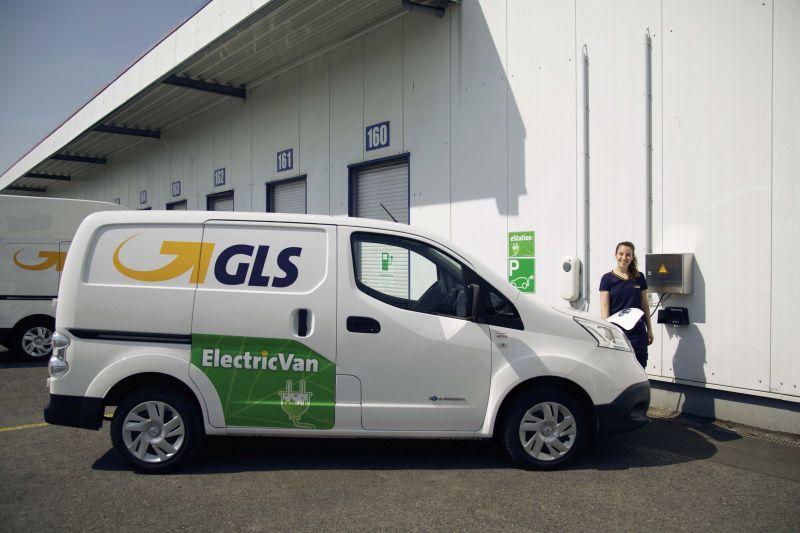 GLS Germany eVan an der Ladestation