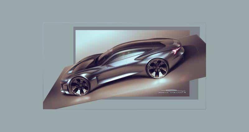 Audi e-tron GT concept Design Skizze