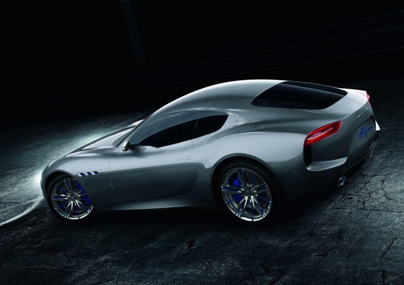 Maserati Alfieri Electric hintere Seitenansicht