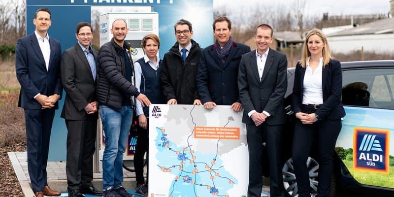 Alle ALDI SÜD Elektrotankstellen in Baden-Württemberg in Betrieb