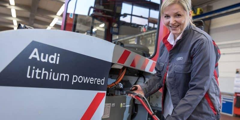 Audi verwendet gebrauchte Lithium-Ionen-Batterien in Flurförderfahrzeugen (1)