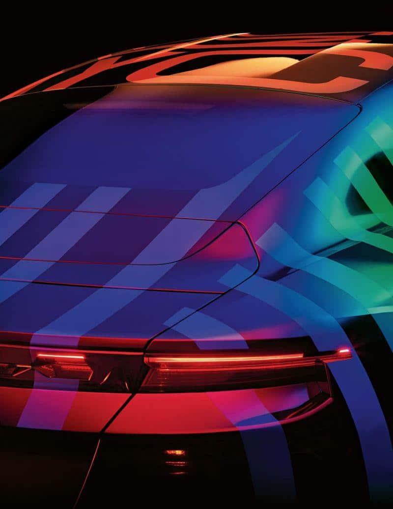 Heck des Porsche Taycan