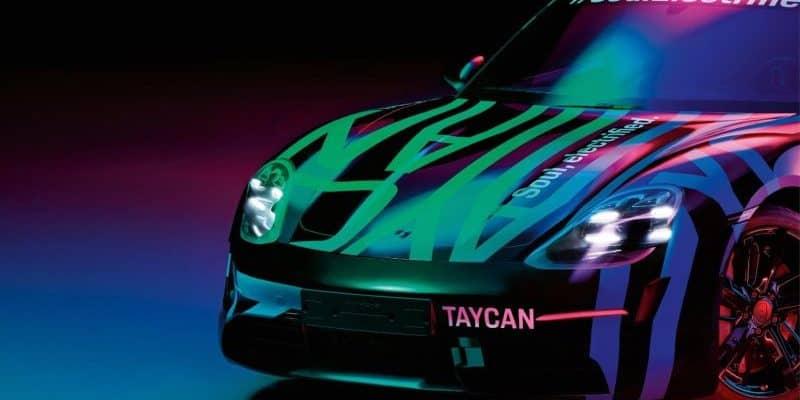 Porsche Taycan in Camouflage