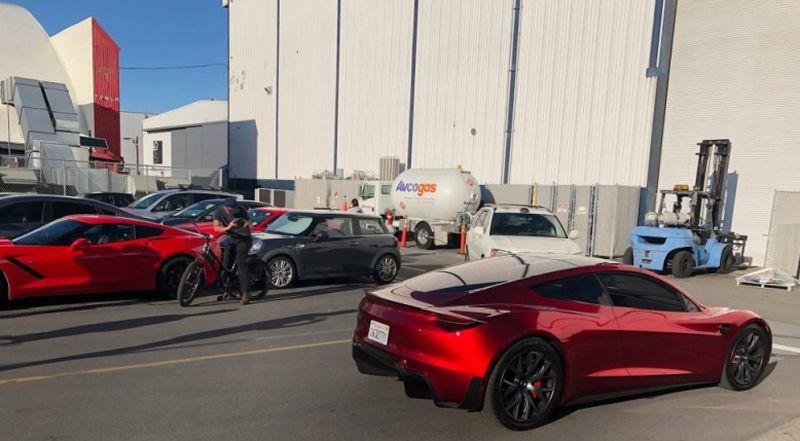 Tesla Roadster Prototyp Heckansicht