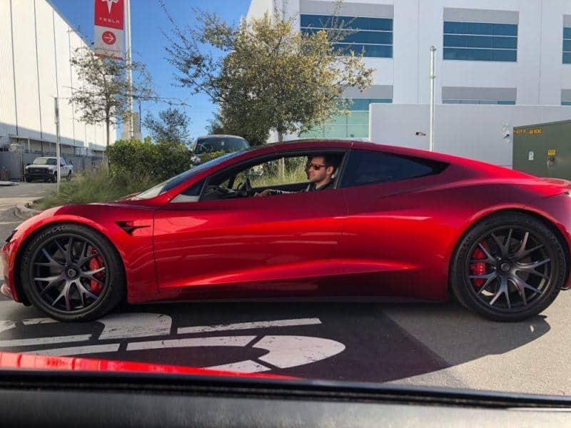 Tesla Roadster Prototyp Seitenansicht