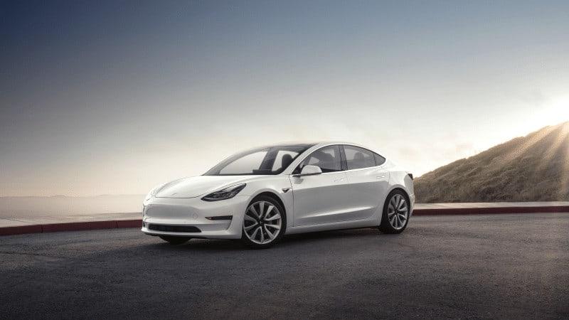 Tesla Model 3 in Pearl White