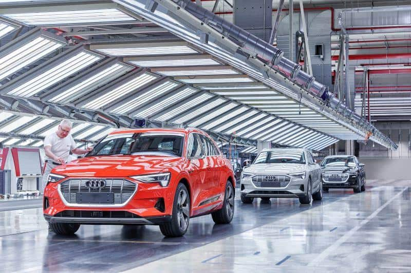 Audi e-tron Eindrücke aus der Produktion