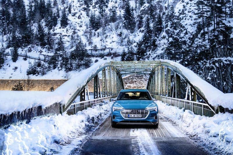 Audi e-tron im Schnee - Produktion verzögert sich