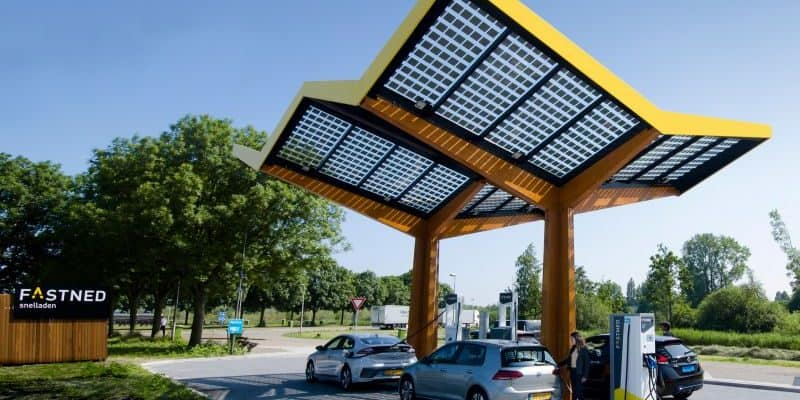 Fastned Ladestation in Betrieb