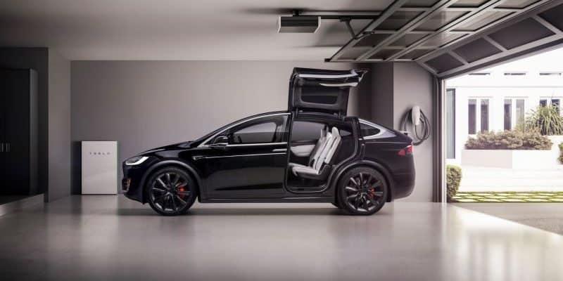 Tesla Model X in Garage