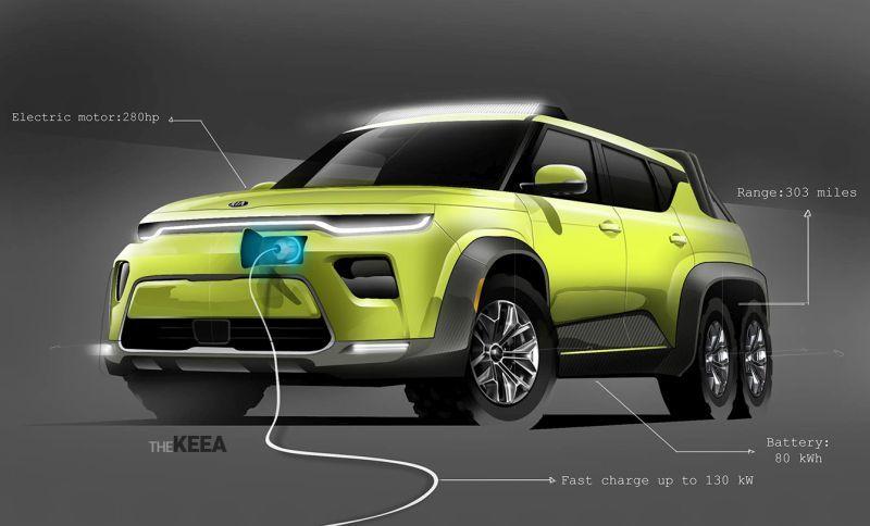 the keea Soul-EV-6x6