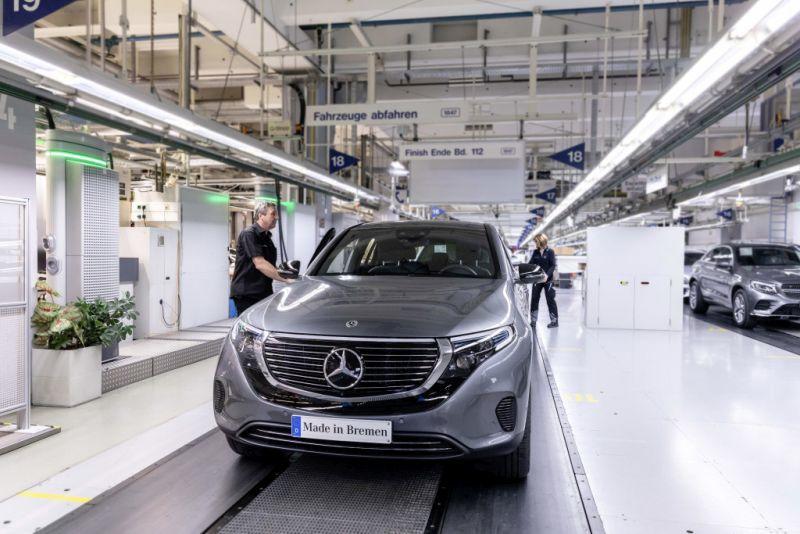Der Mercedes-Benz unter den Elektrofahrzeugen geht an den Start.