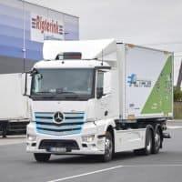 Rigterink Logistikgruppe testet vollelektrischen Lkw eActros