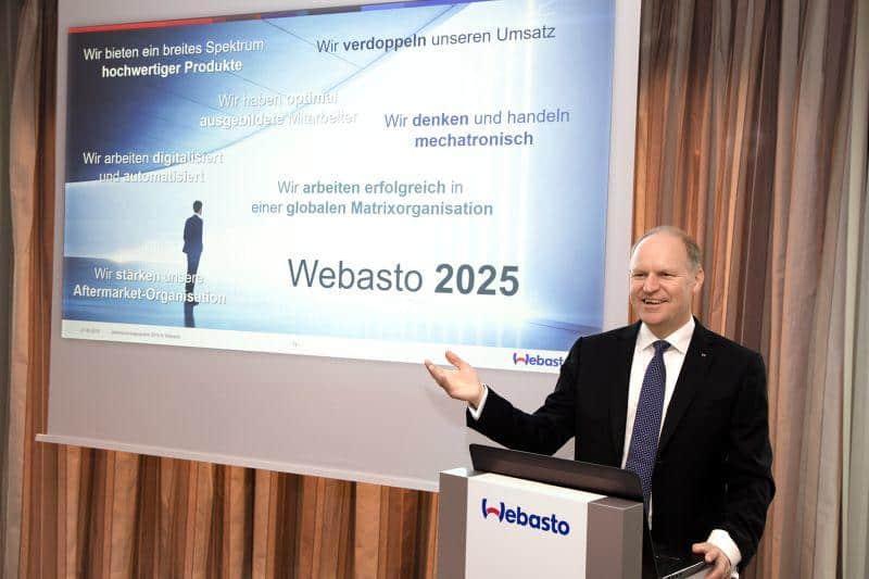 Webasto gibt Ausblick auf die Zukunft