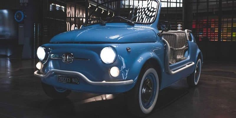 Icon-e elektrifizierte Version des Fiat 500 Jolly