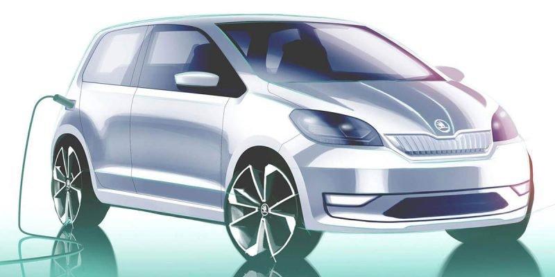 Škoda Citigo E-Auto Teaser