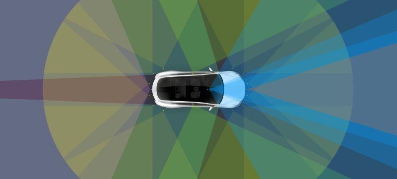 Tesla Robotaxi Sensoren