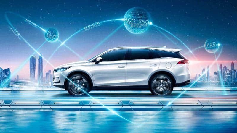 BYD Tang E-SUV Seitenansicht