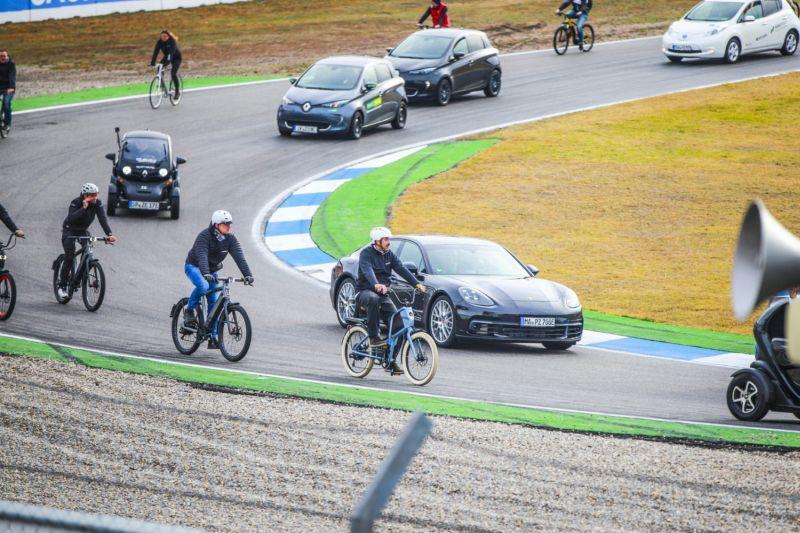 Spürbare Fahrfreude beim e4 Testival Hockenheimring