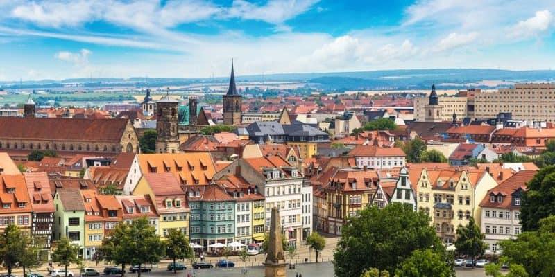 Blick auf Erfurt - künftiger Standort von CATL