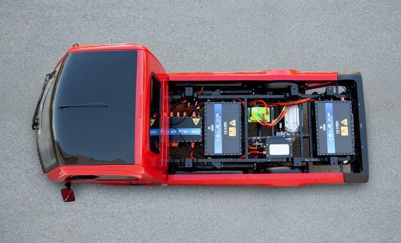Tropos Motors Sicht auf Batterie