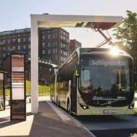 Vollelektrischer Gelenk-Konzeptbus Volvo 7900 EA in Göteborg